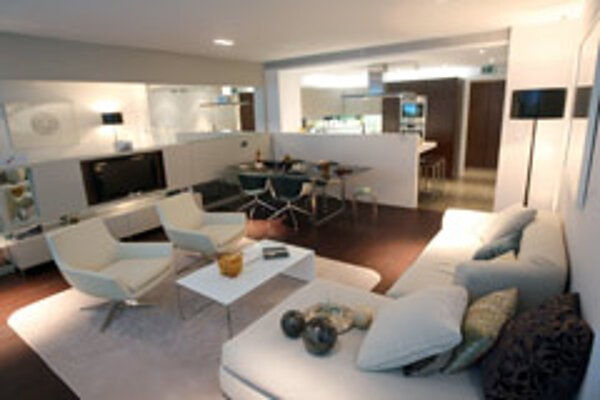 The Eurovea showroom presents what the apartments will look like.