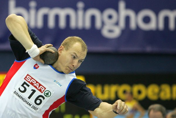 Mikuláš Konopka won gold during the European Indoor Athletics Championships in Birmingham in March 2007.
