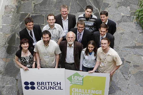 Slovak climate advocates with Prof Milan Lapin (front row, centre) and Huw Jones, BC director (back row, centre).