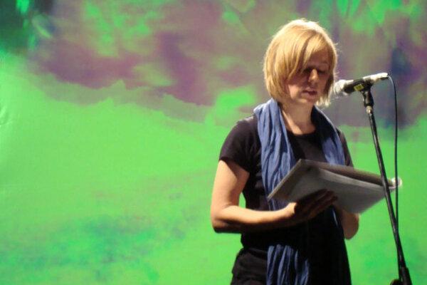 Anja Utler at the festival.