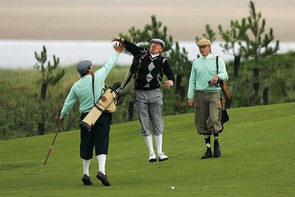Scottish-style golf courses typically utilise natural terrain.
