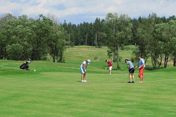 A golf course, illustrative stock photo