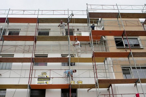 Many blocks of flats are getting new thermal insulation