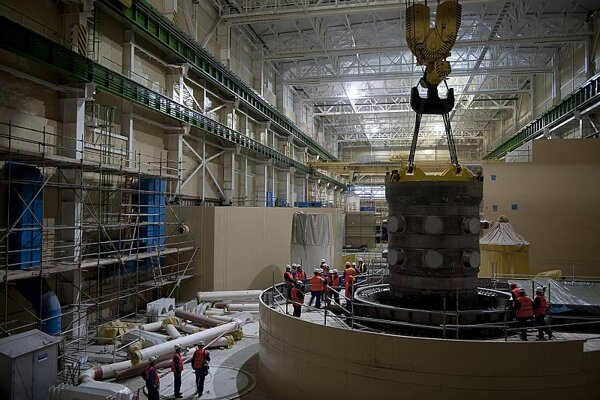 The new pressure vessel at Mochovce 3.