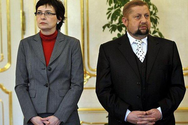Lucia Žitňanská and Štefan Harabin.