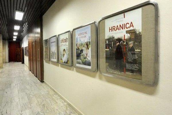 The entrance hall of Kino Lumiere in central Bratislava.