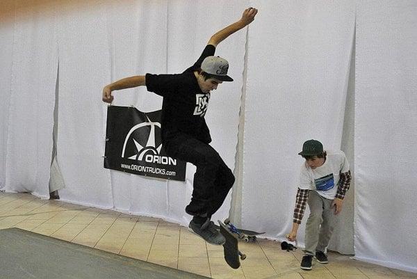 A boarders' trick in Bratislava.