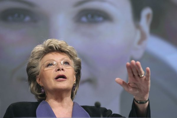 Viviane Reding, the European Union's Justice Commissioner, wants more women in top management.