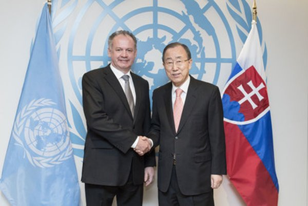 Slovak President Andrej Kiska with Ban Ki-moon