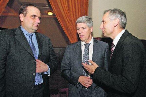 Opposition leaders Frešo, Bugár and Figeľ.