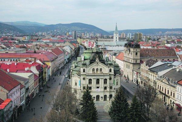 The Košice State Theatre in Hlavná, Košice's main central thoroughfare.
