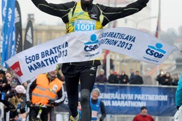 Cheruiyot Chesiny, the winner of the CSOB Bratislava Marathon.