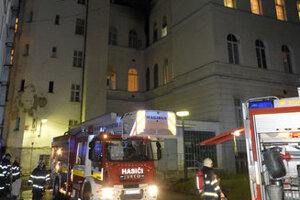 Fire at University Hospital Bratislava