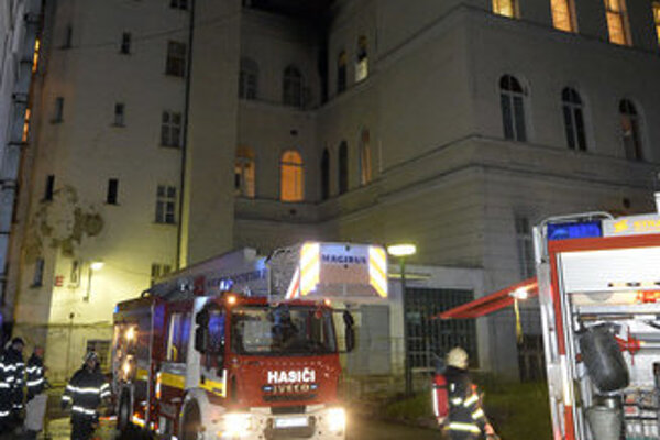 Fire at University Hospital Bratislava