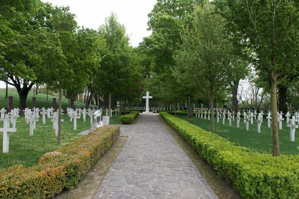 The Kopčany military cemetery in Petržalka.