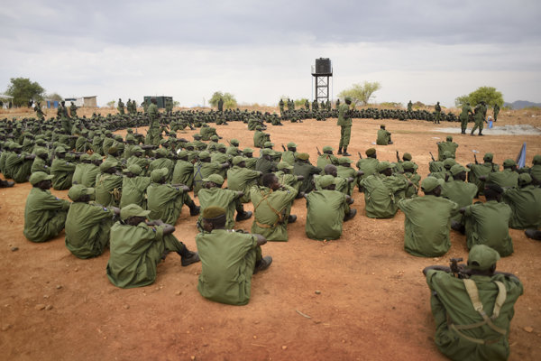 South Sudanese rebel soldiers - illustrative stock photo