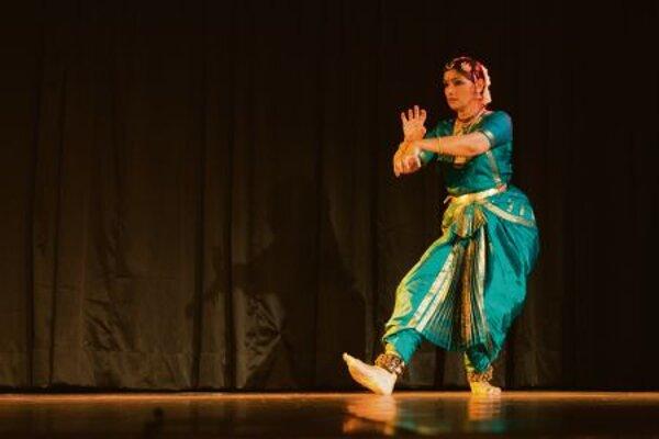 Anjana Rajan performing Bharata Natyam, a traditional Indian dance form, inNewDelhi.