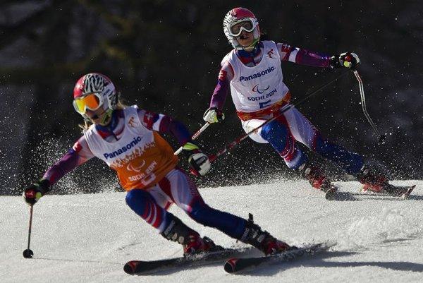 Paralympic alpine skier Henrieta Farkašová's ride with her guide, Natália Šubrtová.