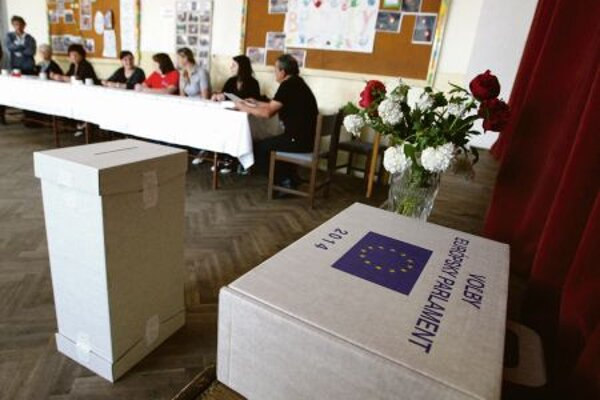 Few Slovak voters cast ballots in the EP elections.