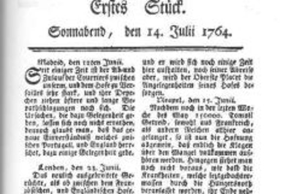 The first issue of Pressburger Zeitung