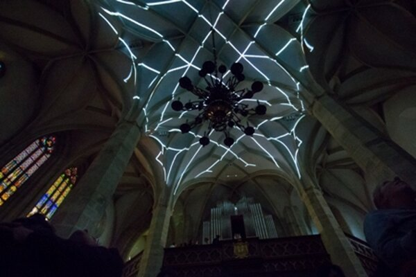 Concert-lighting design in St Martin's Cathedral.