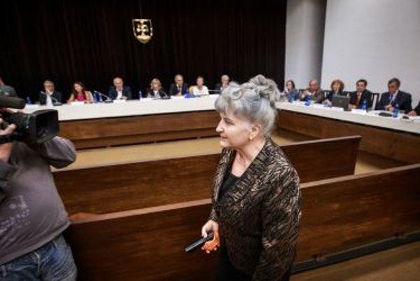 Supreme Court president Daniela Švecová