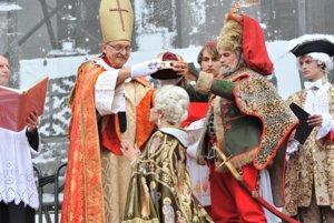 Maria Theresa's coronation enactment in 2011.
