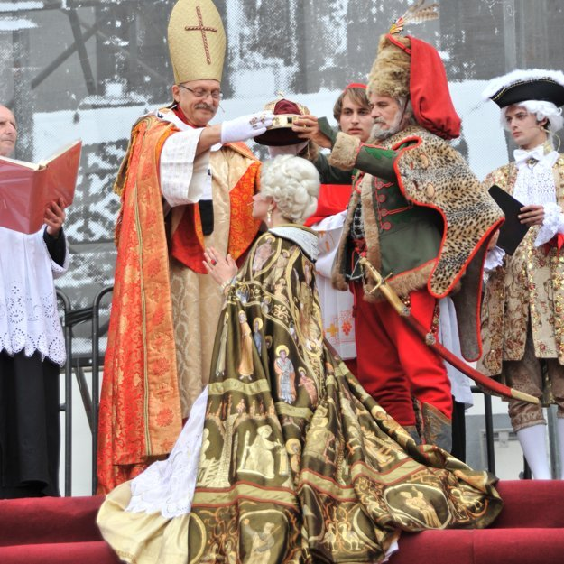 Maria Theresa's coronation enactment in 2011.