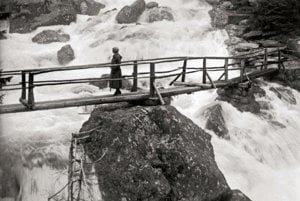 K. Plicka: Studenovodské (Cold-water) Waterfalls, High Tatras, 1930