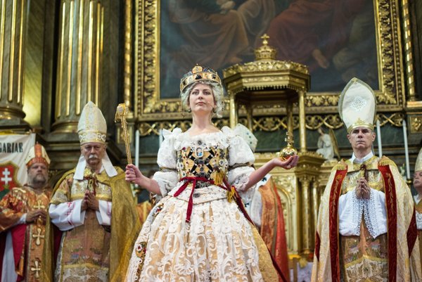 Crowned Maria Theresa.