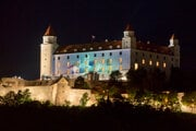 Bratislava offered a number of luminous events during the night before the beginning of the presidency.