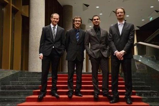 Martin Uherek Trio (M. Uherek-sax, Peter Korman-double bass, Pavol Blaho-drums) with pianist Jakub Tököly