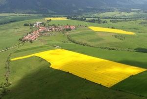Arable land in Slovakia.