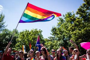 Organisers say that 2,000 people attended Rainbow Pride in Bratislava.