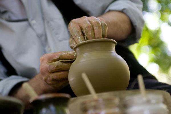 Days of ULUV (Folk Art Production Centre) Craftsmen, illustrative stock photo.