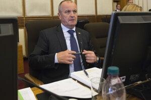 Defence Minister Peter Gajdoš after cabinet session September 28.