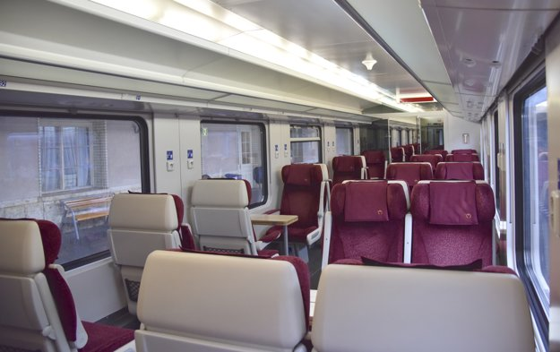 Interior of new IC trains.