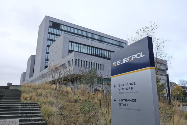 Headquarters of Europol in Hague, Netherlands.
