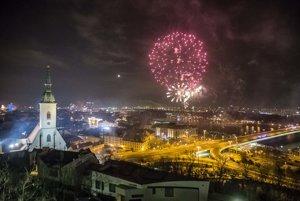 New Year's Eve celebration in Bratislava