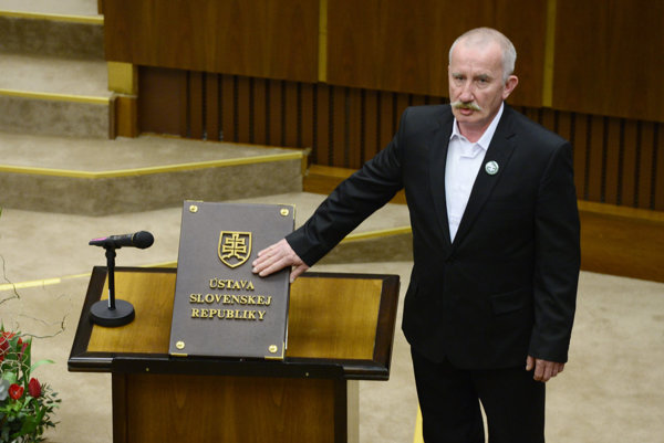 Far-right ĽSNS MP Stanislav Mizík