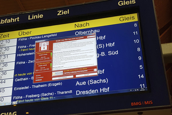 WannaCryptor infected computers of Germany's national railway company.
