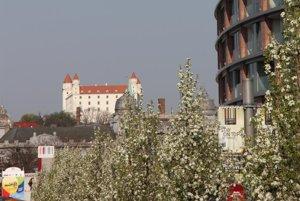 Bratislava Castle from Eurovea