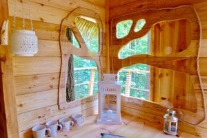 Interior of the tree house No 2.