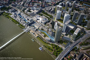 Proposed developments on the Old City's embankment of the Danube River.