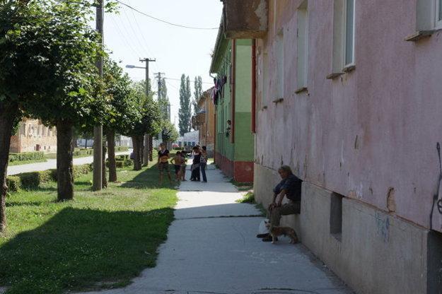 Street in Moldava nad Bodvou.
