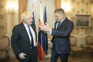 Boris Johnson and Robert Fico