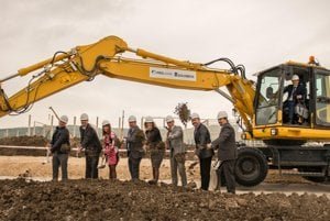 The official launch of construction of two halls in Nitra