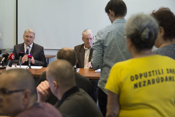 Ondrej Krajňák, left, announced his resignation from the post of the Nation's Memory Institute (ÚPN) head.