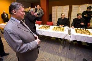 Russian chess legend Anatoly Karpov was the guest of the Jenewein Chess tournament in Bratislava in 2008.