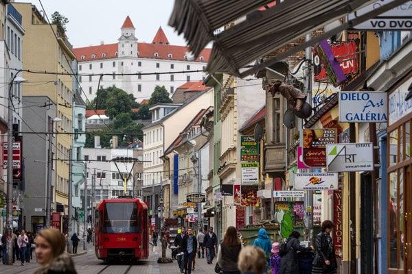 Obchodná Street in Bratislava